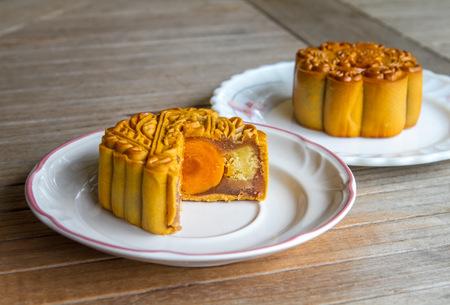 moon cake festival: Mid autumn moon cake festival Stock Photo