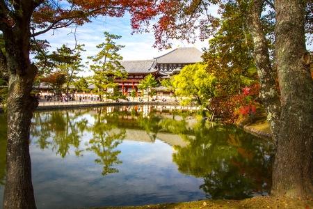 todaiji: E-Exterior of Todaiji, the worlds largest wooden building in Nara, Japan. Taken In Nov 2015
