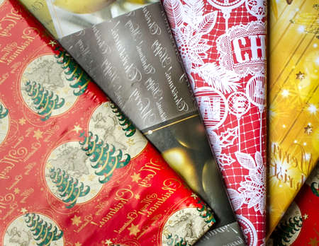 wrappers: Christmas colors in the form of wrappers