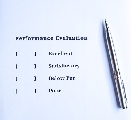 performance appraisal: Performance evaluation or appraisal form