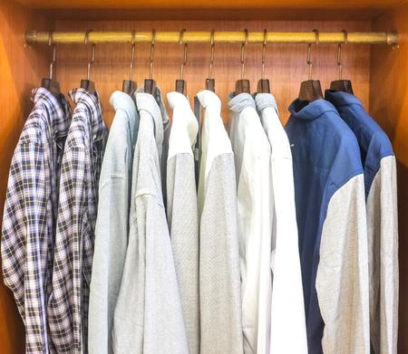 long sleeve: Men wardrobe with long sleeve shirts