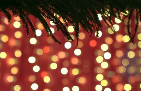 Colorful blurred lights bokeh background. Beautiful Christmas or festive mood.