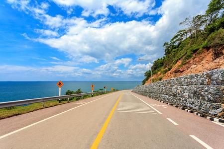 The Coastal Road with Sea and Sky