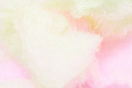 colorful cotton candy in soft color for background.selective focus.