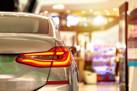 Rear light of  classic car background. Banco de Imagens