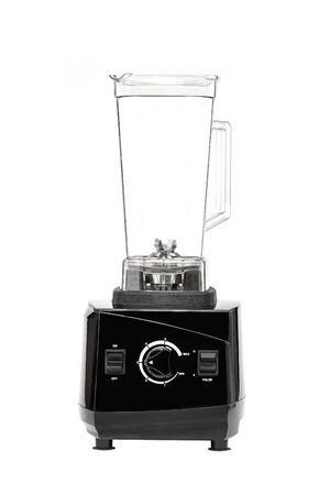 empty black Blender juice machine isolated on white background