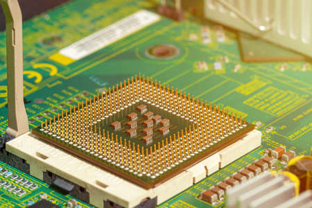 Electronic computer board and chip 版權商用圖片