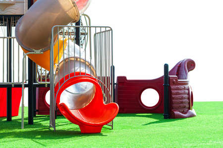 A very colorful playground, great fun for kids, an entertainment in the middle of nature.