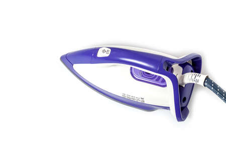 purple  iron  stream housework electric tool isolated on the white background
