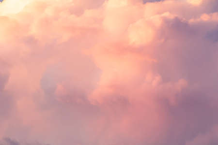 Sunset sky background with pink, purple and blue dramatic colorful clouds, vast sunset sky landscape Stock fotó