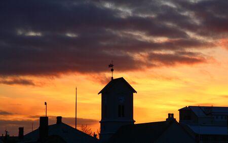 impressive: impressive sunset and dark cloud