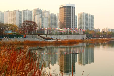 Landscape of the 24th Seoul Olympic Park in Korea Editorial