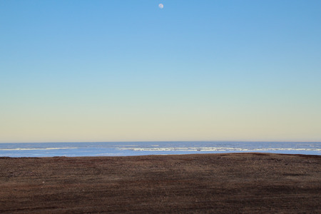 Horizon with moon in the sky