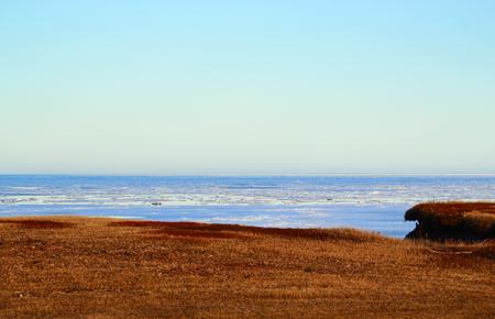 Horizon of Atlantic Ocean from North Cape in Prince Edward Island, Canada.