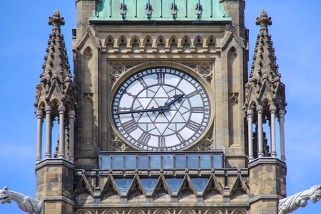 renovated: Peace Tower (officially: the Tower of Victory and Peace) of Parliament Buildings in Ottawa