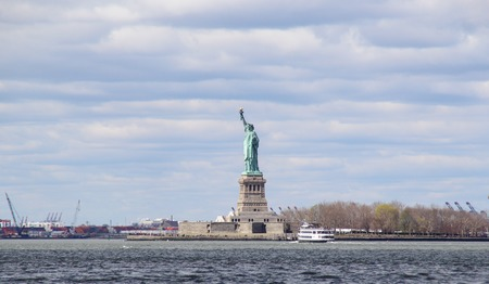 The statue of Liberty in Manhattan, New York City