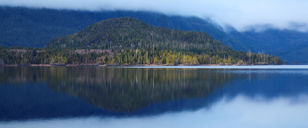 Calm and peaceful lake with reflection