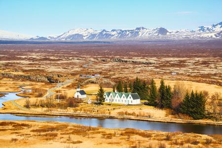 Pingvellir National Park in Iceland Stock Photo