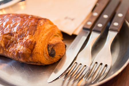 bakery cafe bread (bread and cutlery) Banque d'images - 120730671