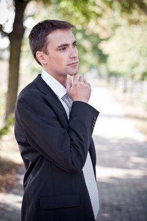 business man having a vision photo
