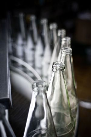 empty bottles in a row photo