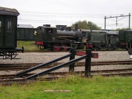 diesel locomotives: Steam and Diesel Locomotives Stock Photo