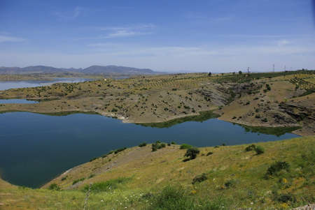 Lake of irrigation in the Middle Atlas photo