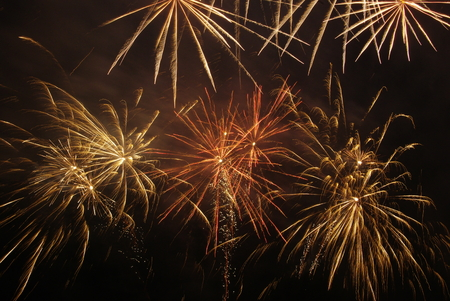 oxides: Fireworks of July 14 Stock Photo