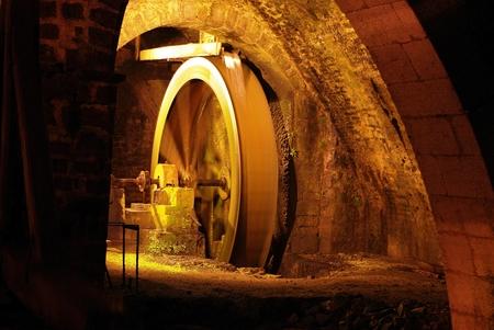 brine: Hydraulic pump brine at Salins Les Bains