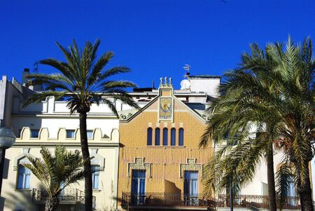 ade: Frontage house at Sitges in Spain