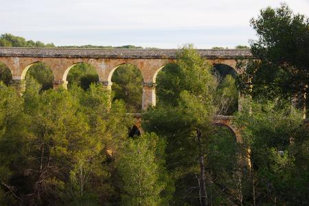 aqueduct: Aqueduct Tarragona in Catalonia