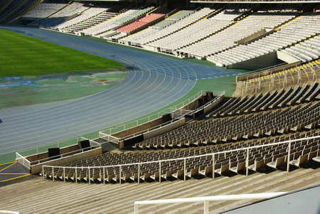 olympic stadium: Barcelona Olympic Stadium Editorial