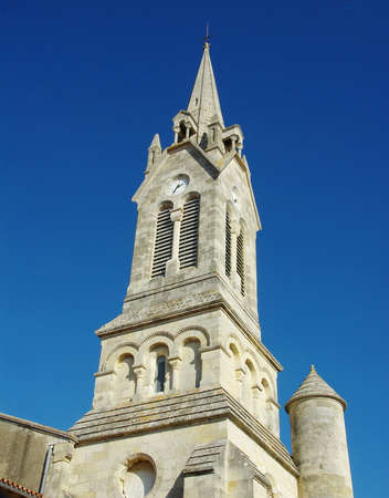 Church of St. Geoges of Didonne in Charente Maritime. Фото со стока