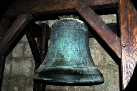 bell bronze bell: Bronze bell from the Church of Aubeterre