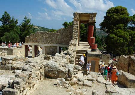 minoan: Knossos ruins of the Minoan civilization in Crate