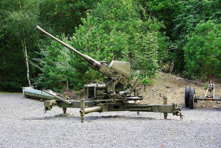 speed gun: Cannon 40mm Bofors anti-aerial Editorial