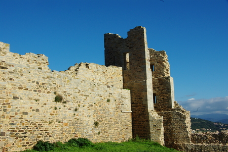Medieval castle of Hyeres in the Var Stock Photo
