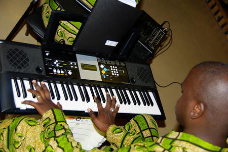 Ch?ur sénégalais, musicien