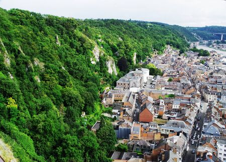 City of Dinant in the Belgian Ardennes