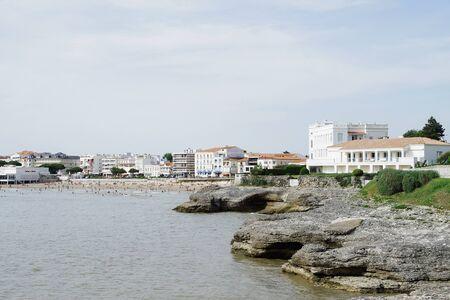 Rocky coast in Charente-Maritime. Editorial
