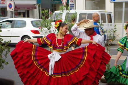 Street show: folklore of Honduras