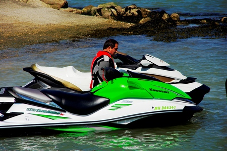 Jet skis in preparation before competition Editorial