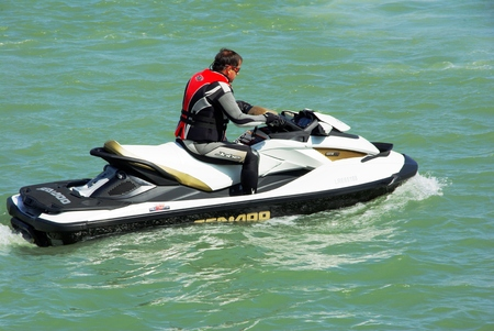 Jet ski in competition