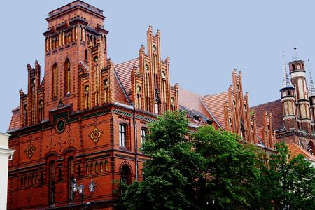 Central post office of the city of Torun in Poland Stock Photo - 90934939