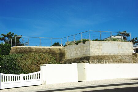Use of the blockhouse of the Atlantic Wall in Royan Stock Photo