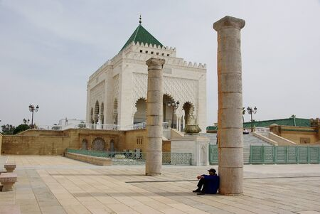 Tomb of King Mohamed V in Morocco Editorial