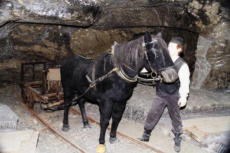 Effigiesin the salt mine, Wieliczka near Krakow in Poland Editorial