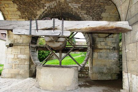 Pumping water in the Middle Ages in Besancon Fortress