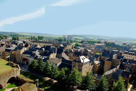 City of Sedan in the Ardennes Stock Photo
