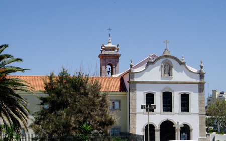 Religious building in Cascais in Portugal Stock Photo